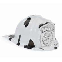 Chief's Choice Kid's Firefighter Hat, Dalmatian Color-Me Shield