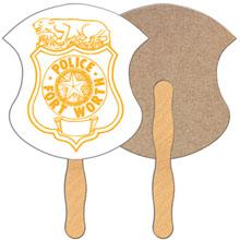 Badge Hand Fan