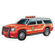 Fire Chief Die-Cut Car Magnet