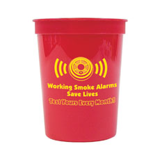 Working Smoke Alarms Save Lives Stadium Cup 17oz., Stock