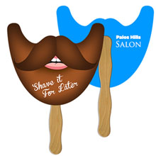 Beard Hand Fan, Full Color