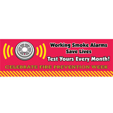 Working Smoke Alarms Save Lives, Heavy Duty Banner, Stock