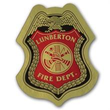 Junior Firefighter Foil Sticker Badge, Custom