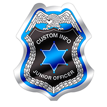 Junior Police Officer Foil Sticker Badge, Custom