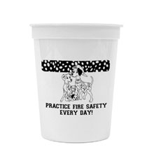 Practice Fire Safety Every Day Dalmatian Stadium Cup, 17oz., Stock