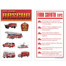 Fire Safety Vehicles Sticker Sheet, Stock