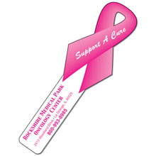Plastic Awareness Ribbon Bookmark