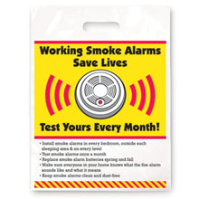Working Smoke Alarms Save Lives Full Color Litterbag, Stock