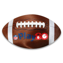 ColorBurst™ Football Shaped Microfiber Cloth