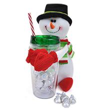 Snowman Gift Set w/ Hershey Kisses