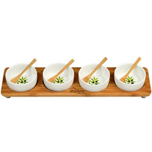 In Line Serving Platter with Four Bowls