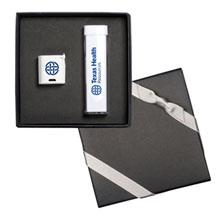 Micro-Boom Speaker & Econo Mobile Power Bank Gift Set, 2200 mAH