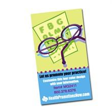 Snellen Eye Chart with Glasses Design Full Color Magnet