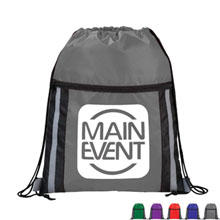 Deluxe Reflective 210D Polyester Drawstring Cinchpack