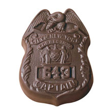 Chocolate Badge, 2oz.