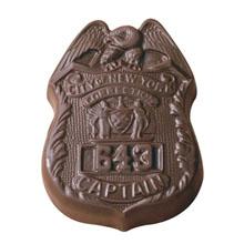 Chocolate Badge, 2oz.