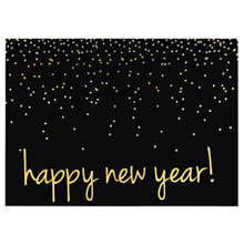 Happy New Year Holiday Greeting Card