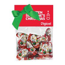 Candy Dish Header Bag, Chocolate Santas
