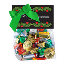 Candy Dish Header Bag, HERSHEY'S® Holiday Mix