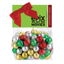 Candy Dish Header Bag, Holiday Chocolate Balls