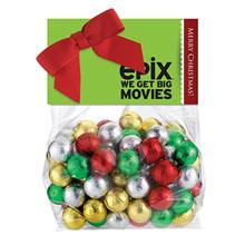 Candy Dish Header Bag, Holiday Chocolate Balls