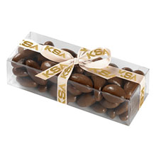Classic Present Gift Box with Chocolate Covered Almonds