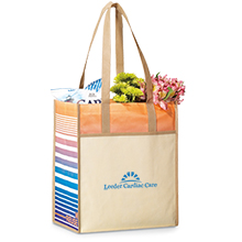 Boca Laminated Non-Woven Shopper, Tan Pattern