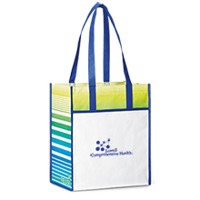 Boca Laminated Non-Woven Shopper, Royal Blue Pattern