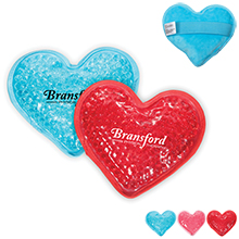Plush Aqua Pearls Heart Deluxe Hot & Cold Pack
