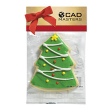 Christmas Tree Cookie in a Header Bag