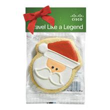Santa Claus Cookie in a Header Bag