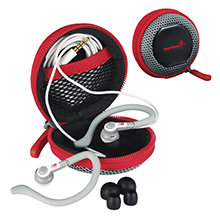 New Balance® Ear Buds w/ Mic and Case