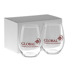 Stemless White Wine Glass Gift Set