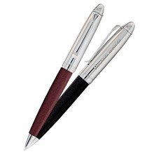 BIC® Leather Twist-Style Ballpoint Pen