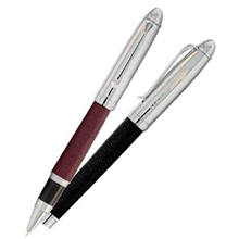 BIC® Leather Two-Piece Rollerball Pen