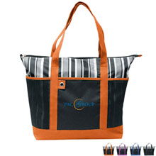 Charcoal Striped Tote