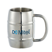 Growl Stainless Barrel Mug, 14oz.