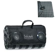 Picnic Speaker Blanket with Built In Speakers