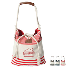 Catamaran Striped Cotton Tote - Free Set Up Charges!