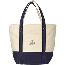 Seaside Zippered Cotton Tote, 16oz. - Free Set Up Charges!