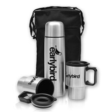 Hot Beverage Set w/ Zippered Carrying Case