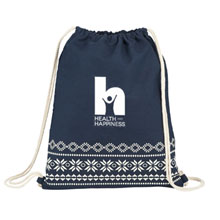 Fair Isle Cotton Cinchpack