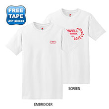 Hanes ComfortSoft® Cotton T-Shirt, White