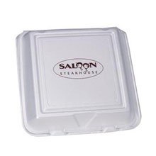 Divided Foam Hinged Take Out Container