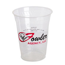 Biodegradable Clear Plastic Cup, 16oz.