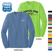 Hanes Tagless® ComfortSoft® Long-Sleeve T-Shirt, Colors