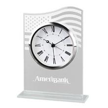 Patriotic Glass Desk Clock