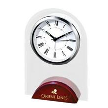 Arch-on-Wood Desk Clock