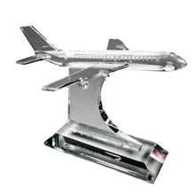 Crystal Airplane Sculpture