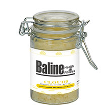 Essential Oil Infused Bath Salts in Glass Wire Bale Jar, 3.15oz.